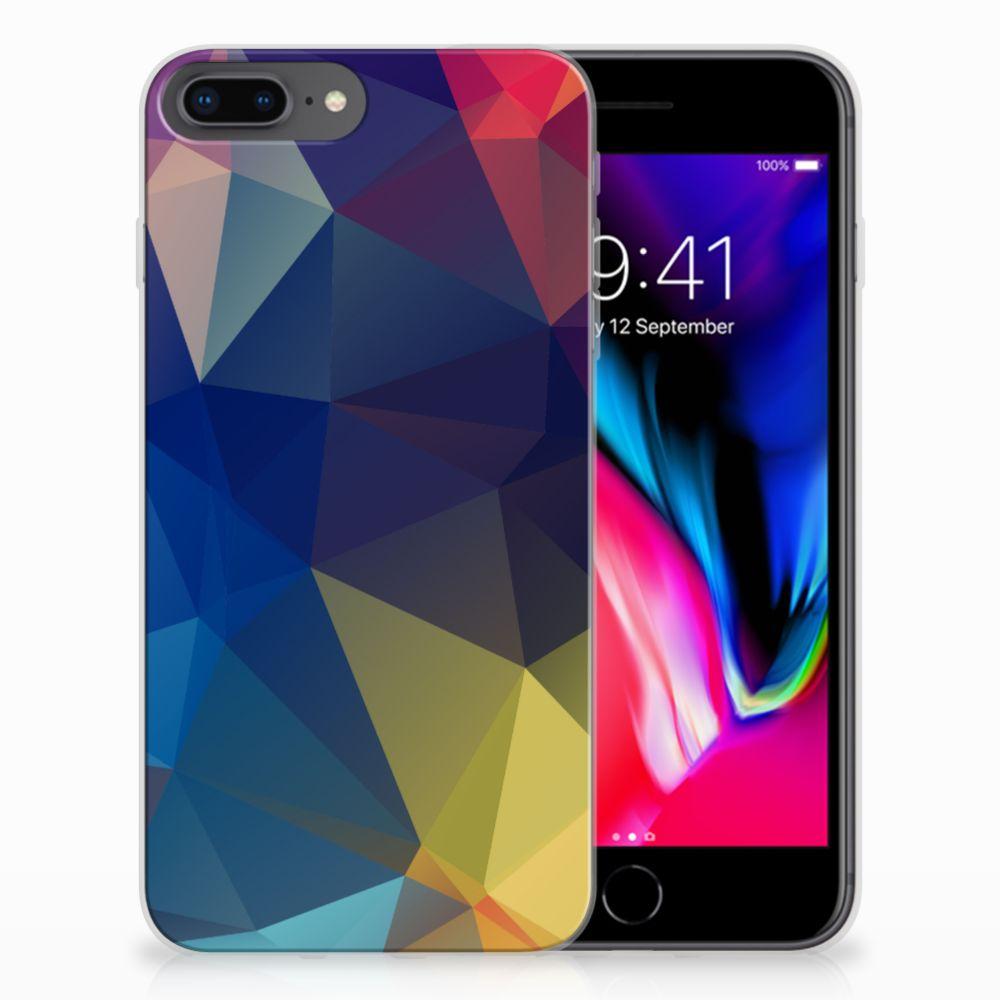 Apple iPhone 7 Plus | 8 Plus TPU Hoesje Polygon Dark