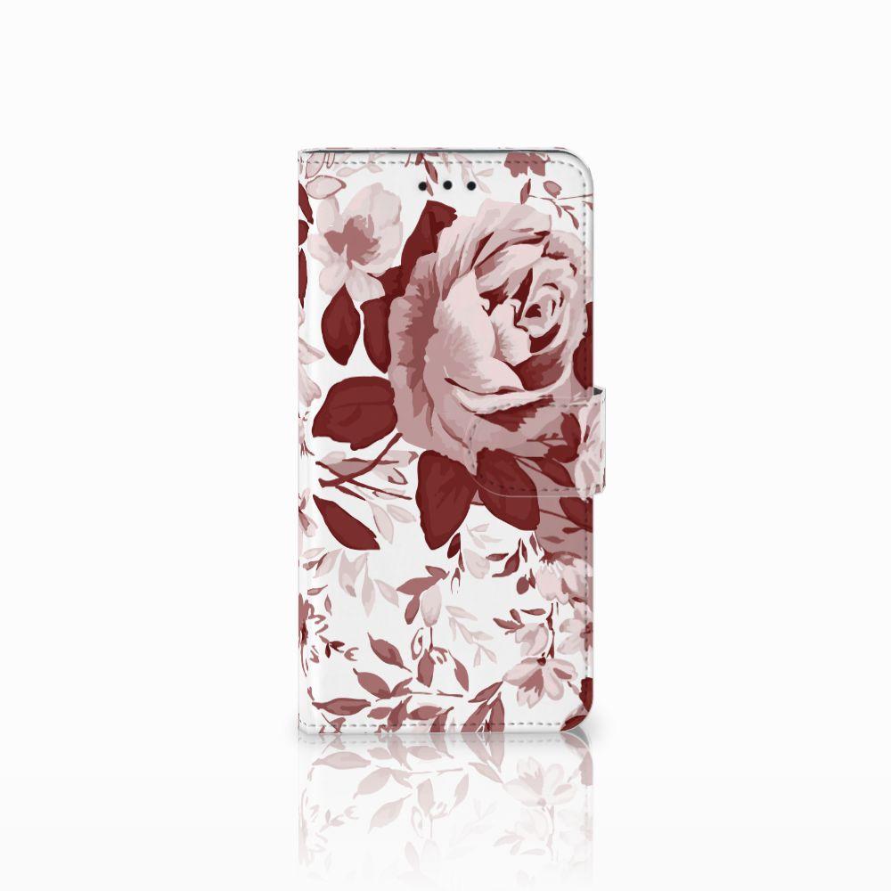 Motorola Moto E5 Uniek Boekhoesje Watercolor Flowers