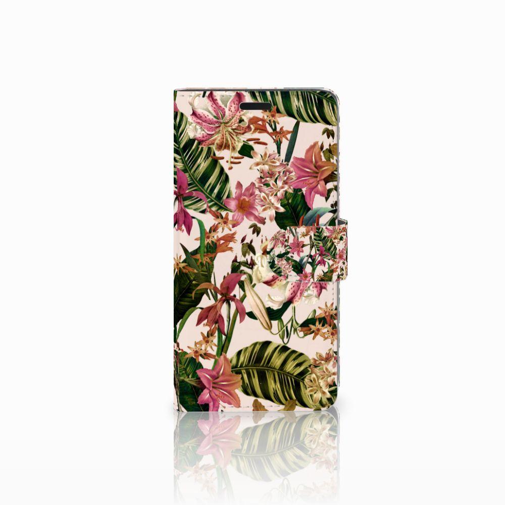 HTC Desire 530 Uniek Boekhoesje Flowers