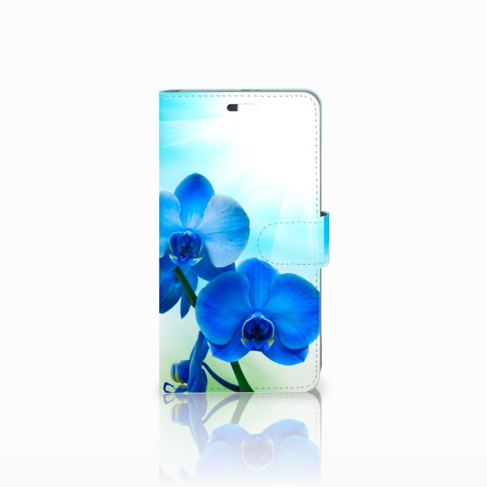 Huawei P9 Plus Boekhoesje Design Orchidee Blauw