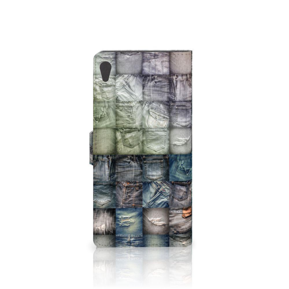Wallet Case met Pasjes Sony Xperia XA Ultra Spijkerbroeken