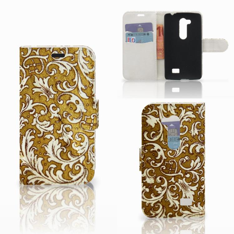 Wallet Case LG L Fino Barok Goud