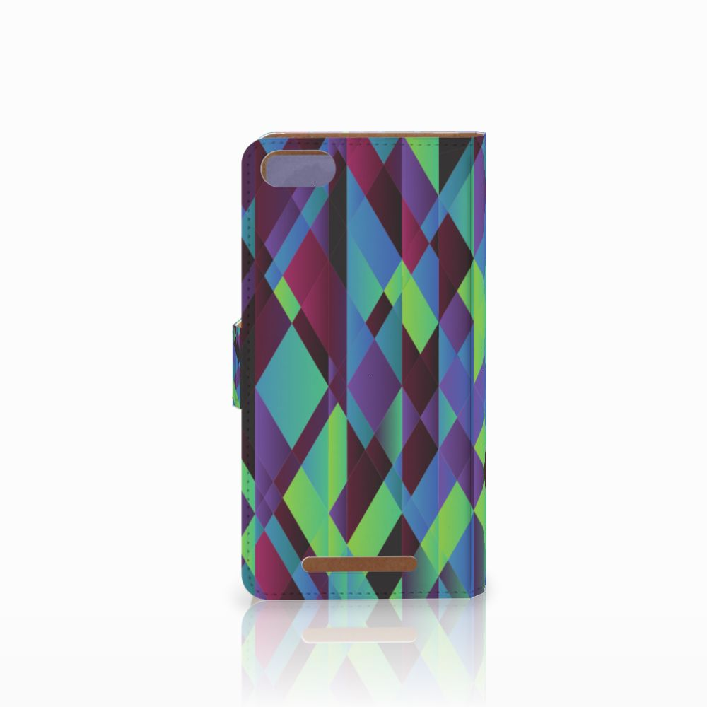 Wiko Lenny 3 Bookcase Abstract Green Blue