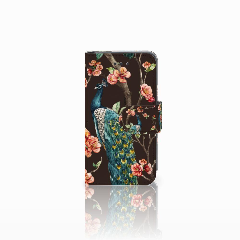 Nokia Lumia 530 Boekhoesje Design Pauw met Bloemen