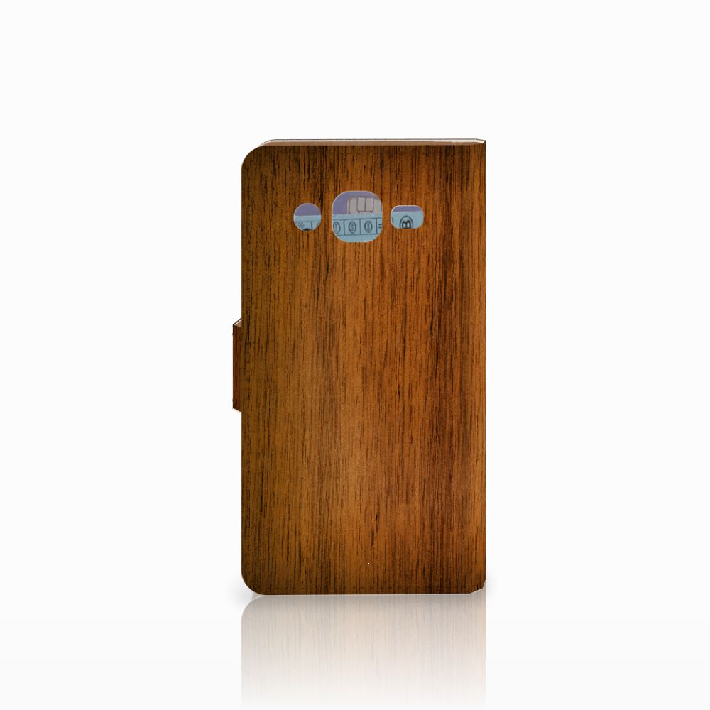 Samsung Galaxy J2 (2015) Book Style Case Donker Hout