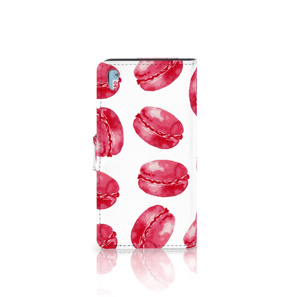 Sony Xperia Z5 | Z5 Dual Book Cover Pink Macarons