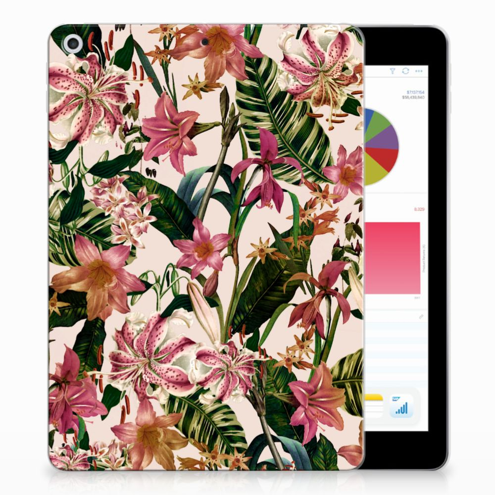 Apple iPad 9.7 2018 | 2017 Uniek Tablethoesje Flowers