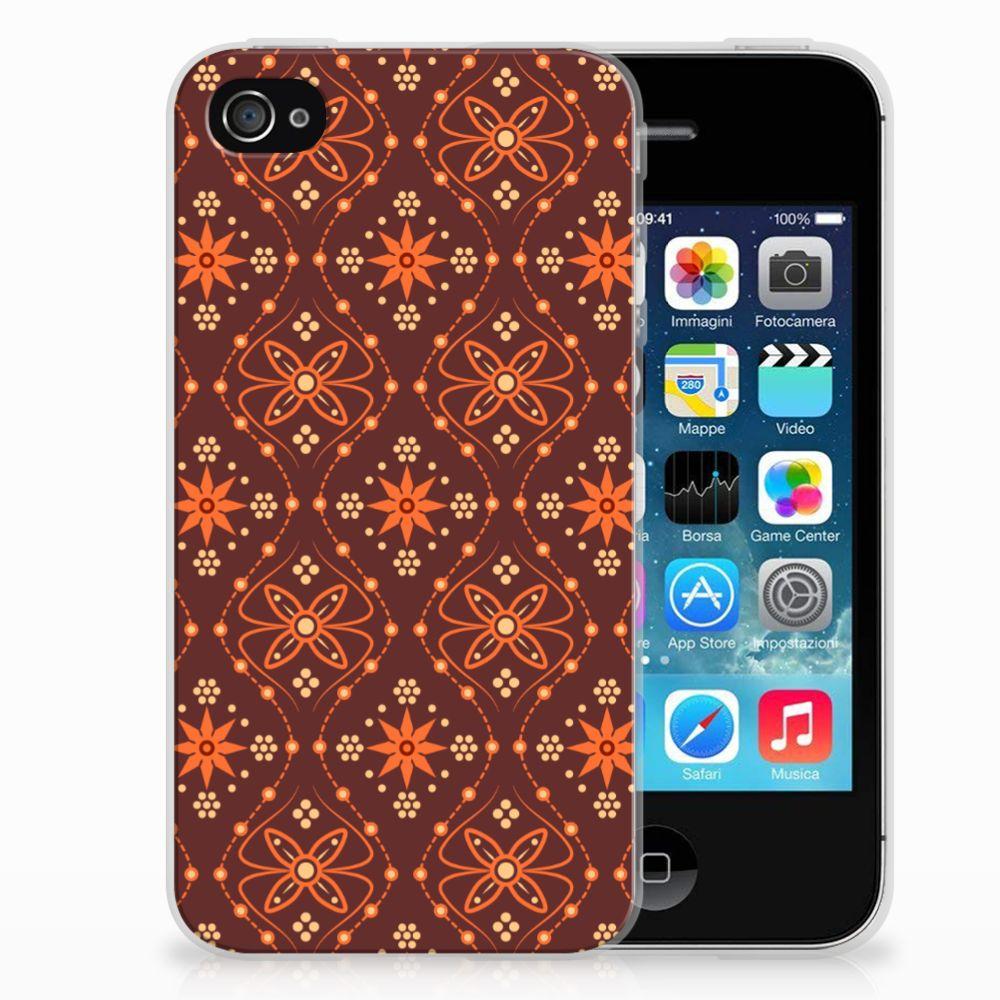 Apple iPhone 4 | 4s TPU bumper Batik Brown