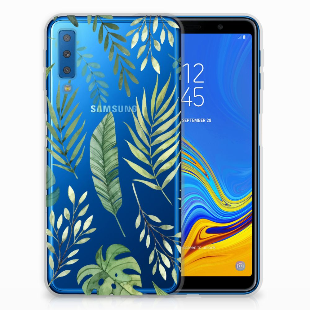 Samsung Galaxy A7 (2018) TPU Case Leaves
