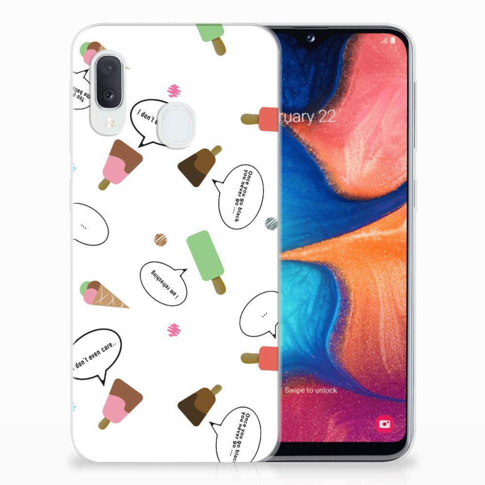 Samsung Galaxy A20e Siliconen Case IJsjes