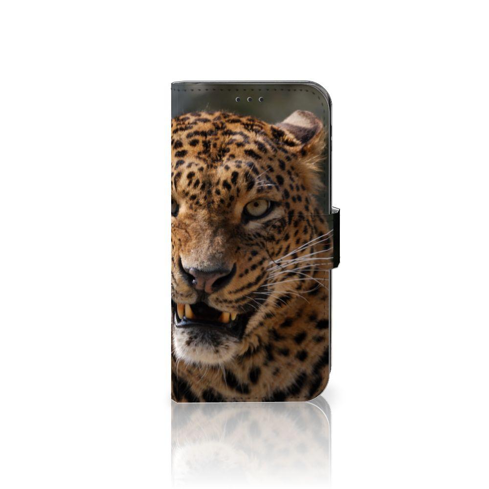 Samsung Galaxy J5 2017 Telefoonhoesje met Pasjes Luipaard