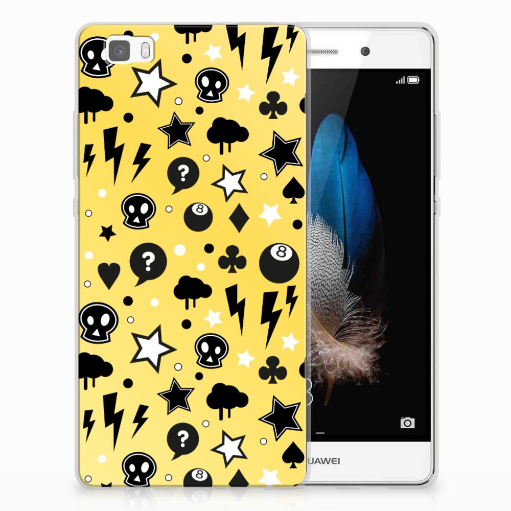 Silicone Back Case Huawei Ascend P8 Lite Punk Geel
