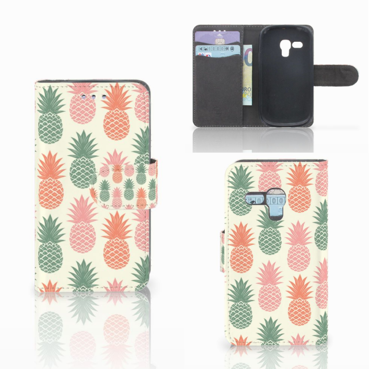 Samsung Galaxy S3 Mini Book Cover Ananas