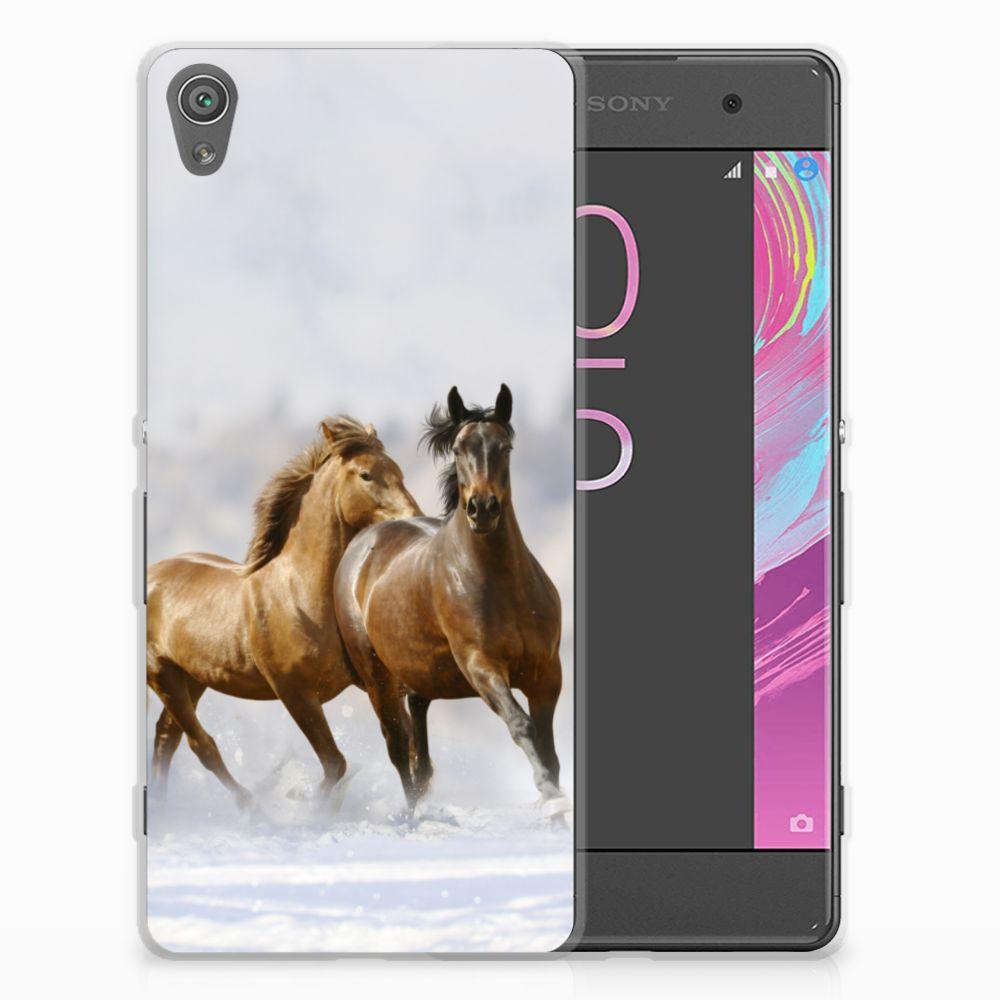 Sony Xperia XA | XA Dual TPU Hoesje Paarden