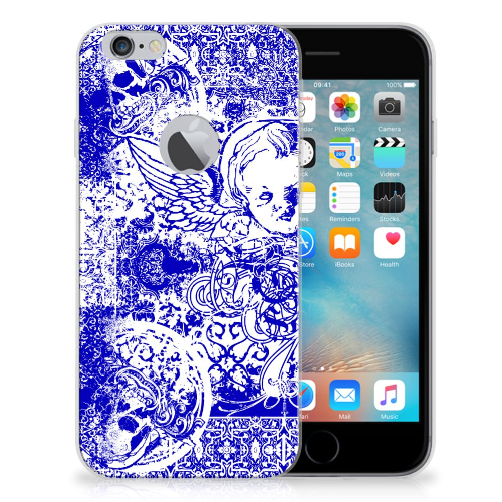 Silicone Back Case Apple iPhone 6 Plus | 6s Plus Angel Skull Blauw