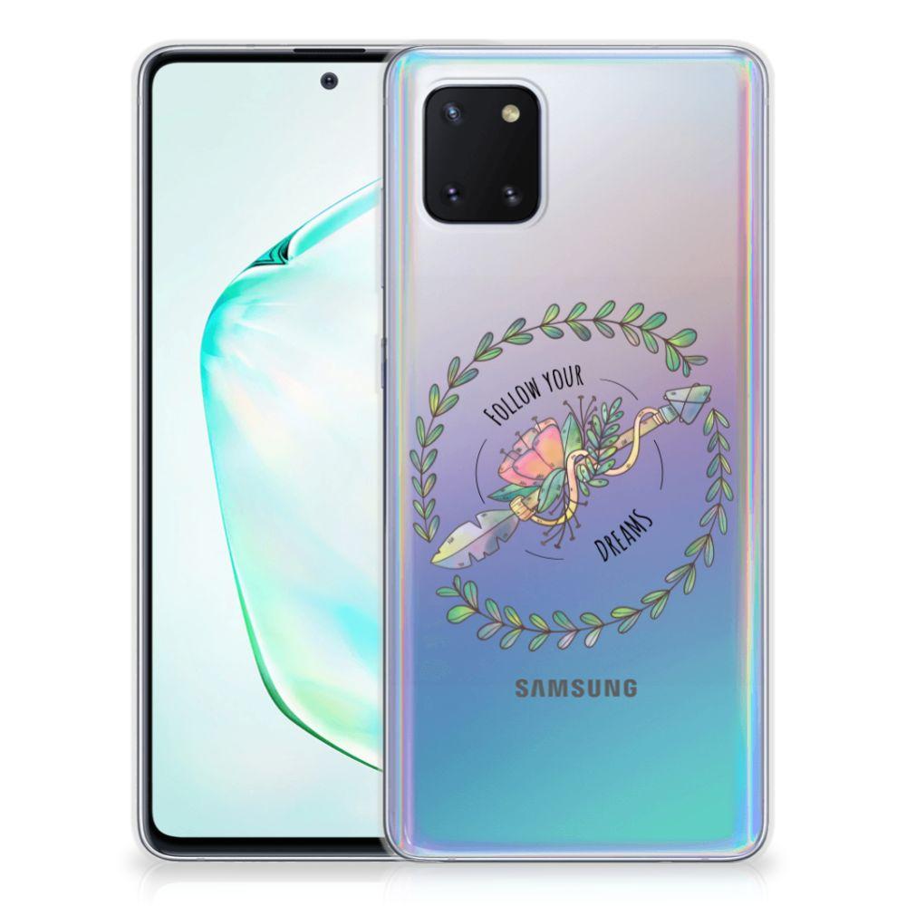 Samsung Galaxy Note 10 Lite Telefoonhoesje met Naam Boho Dreams