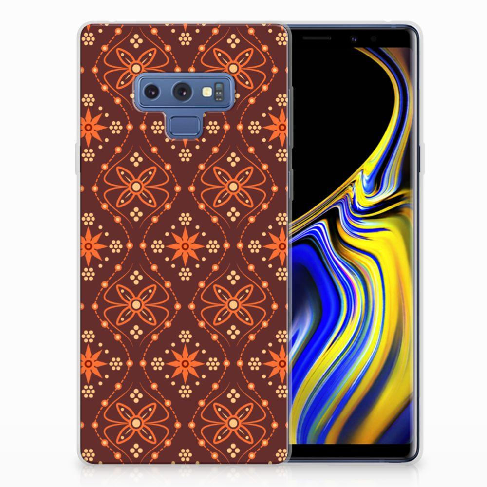 Samsung Galaxy Note 9 TPU bumper Batik Brown
