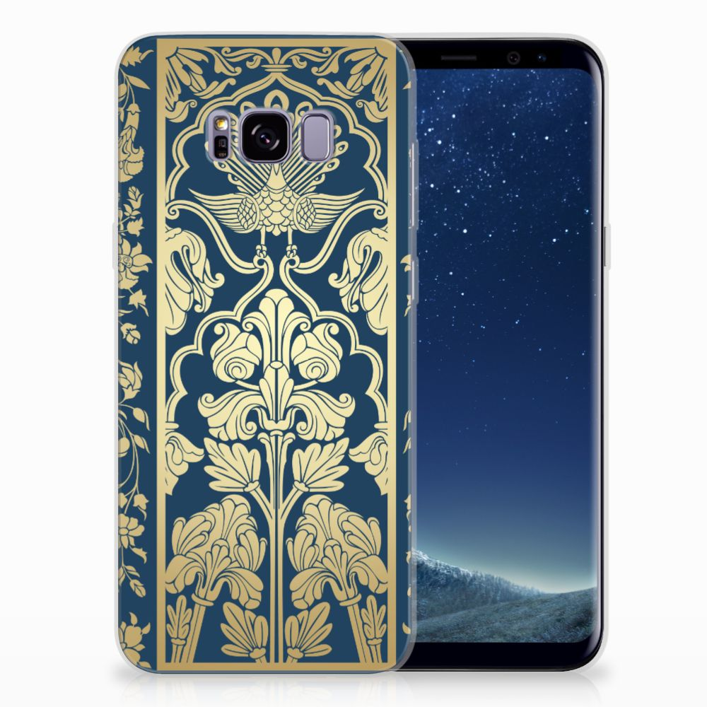 Samsung Galaxy S8 Plus TPU Hoesje Golden Flowers