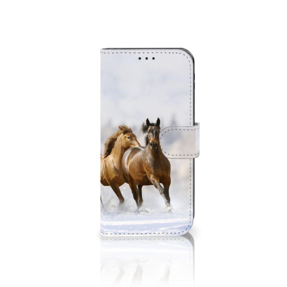 Samsung Galaxy J5 2017 Telefoonhoesje met Pasjes Paarden