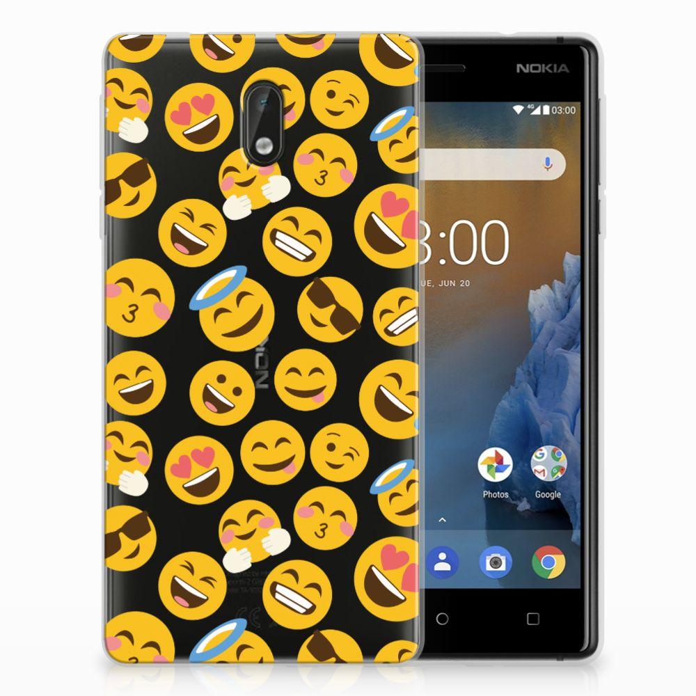 Nokia 3 TPU Hoesje Design Emoji
