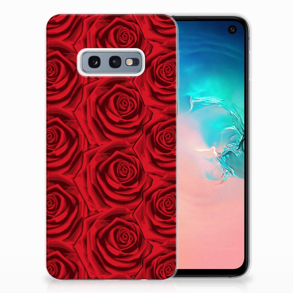 Samsung Galaxy S10e Uniek TPU Hoesje Red Roses