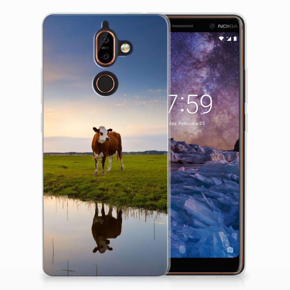 Nokia 7 Plus TPU Hoesje Design Koe