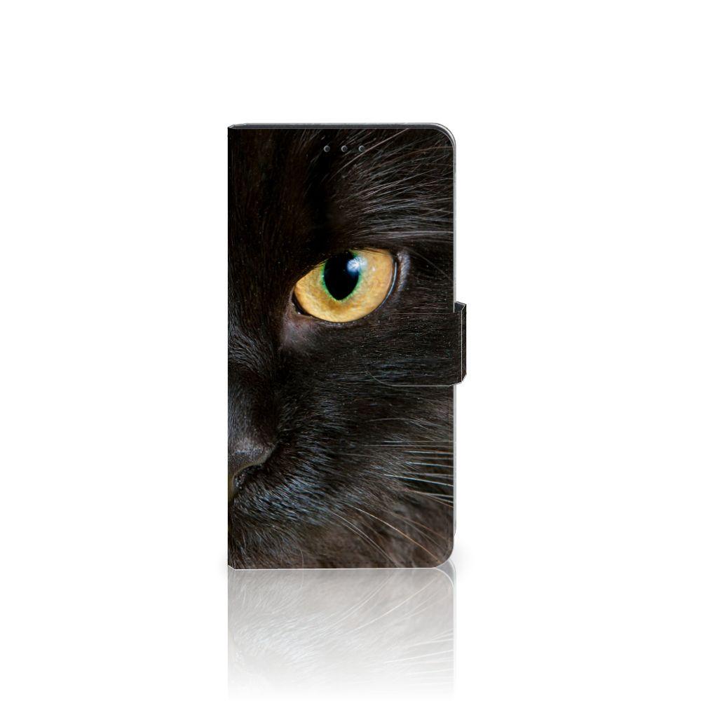 Samsung Galaxy A7 (2018) Uniek Boekhoesje Zwarte Kat