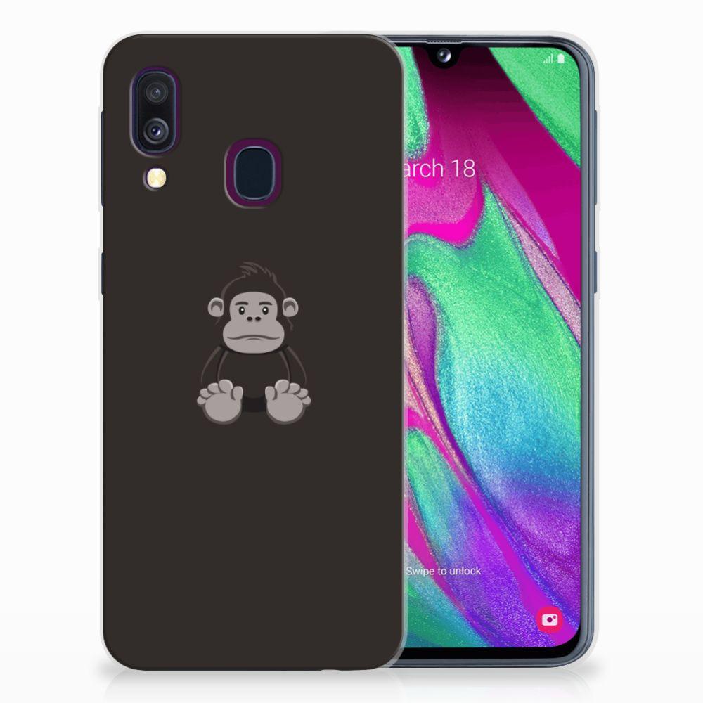 Samsung Galaxy A40 Telefoonhoesje met Naam Gorilla