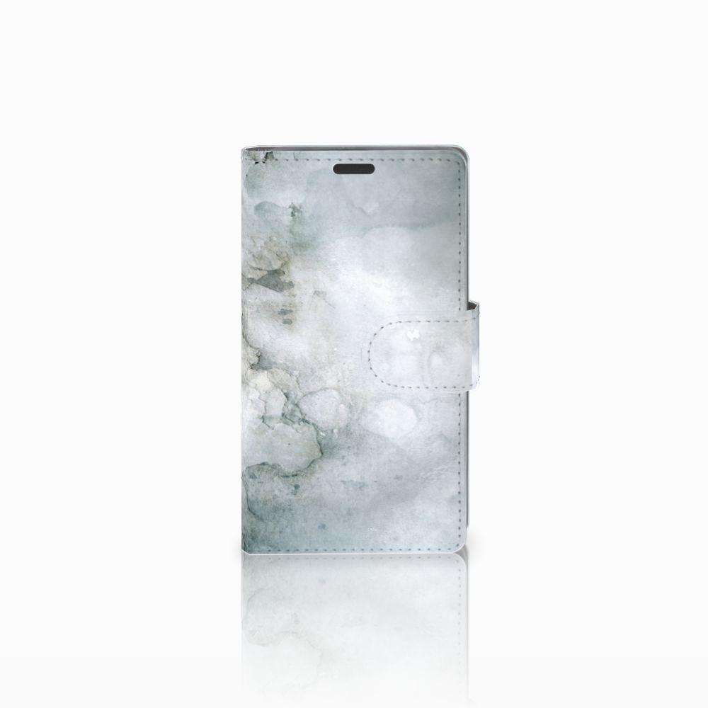 Nokia Lumia 625 Uniek Boekhoesje Painting Grey