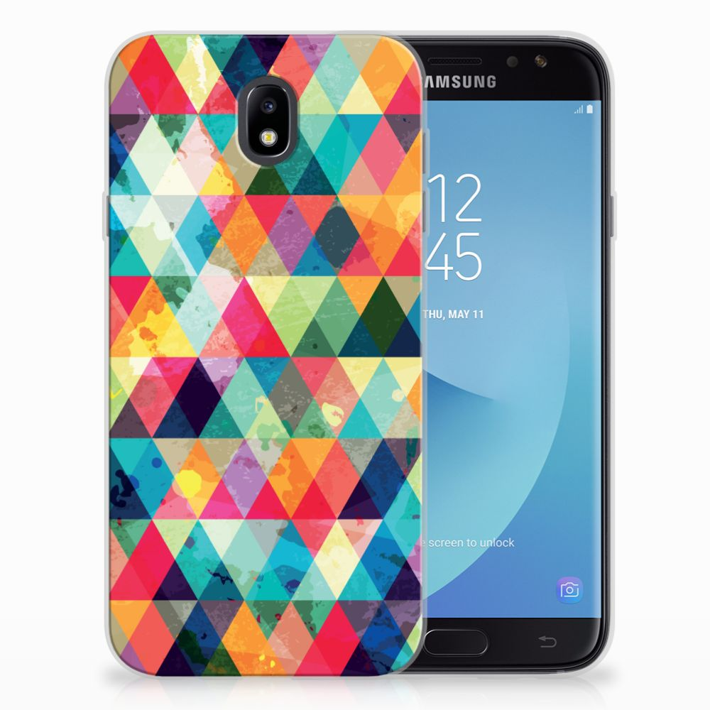 Samsung Galaxy J7 2017 | J7 Pro Uniek TPU Hoesje Geruit