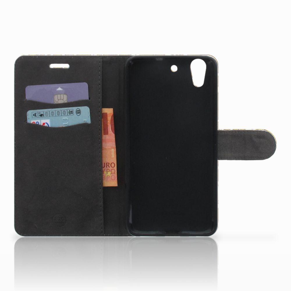 Wallet Case Huawei Y6 II   Honor 5A Barok Goud