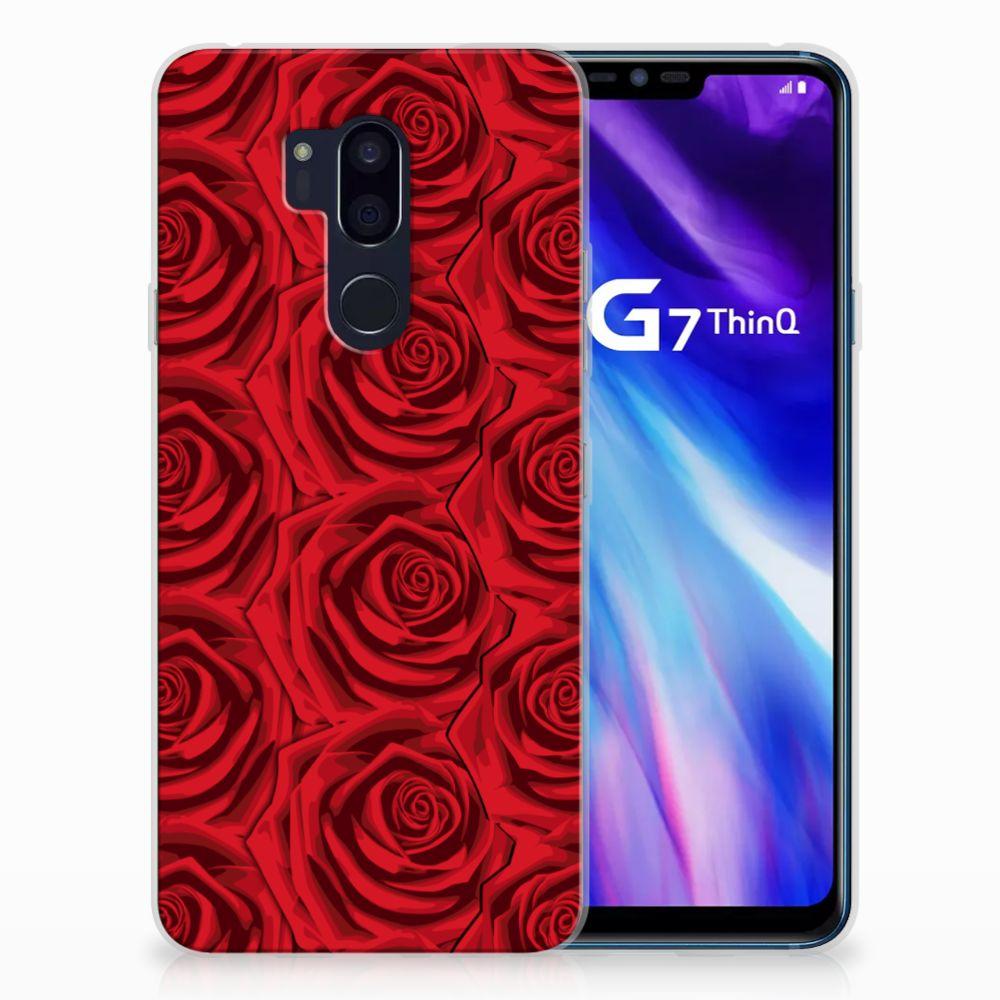 LG G7 Thinq Uniek TPU Hoesje Red Roses