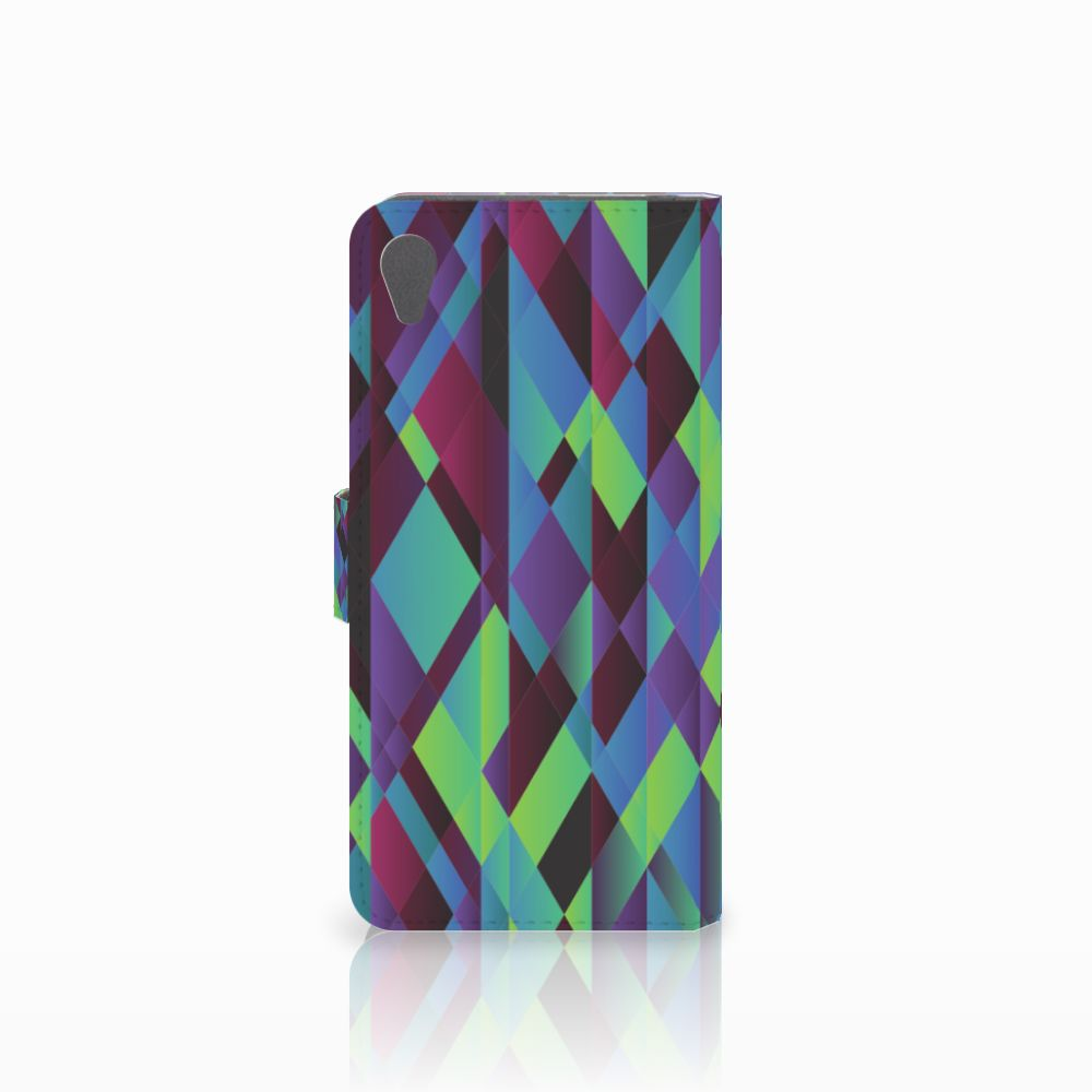 Sony Xperia Z5 Premium Bookcase Abstract Green Blue