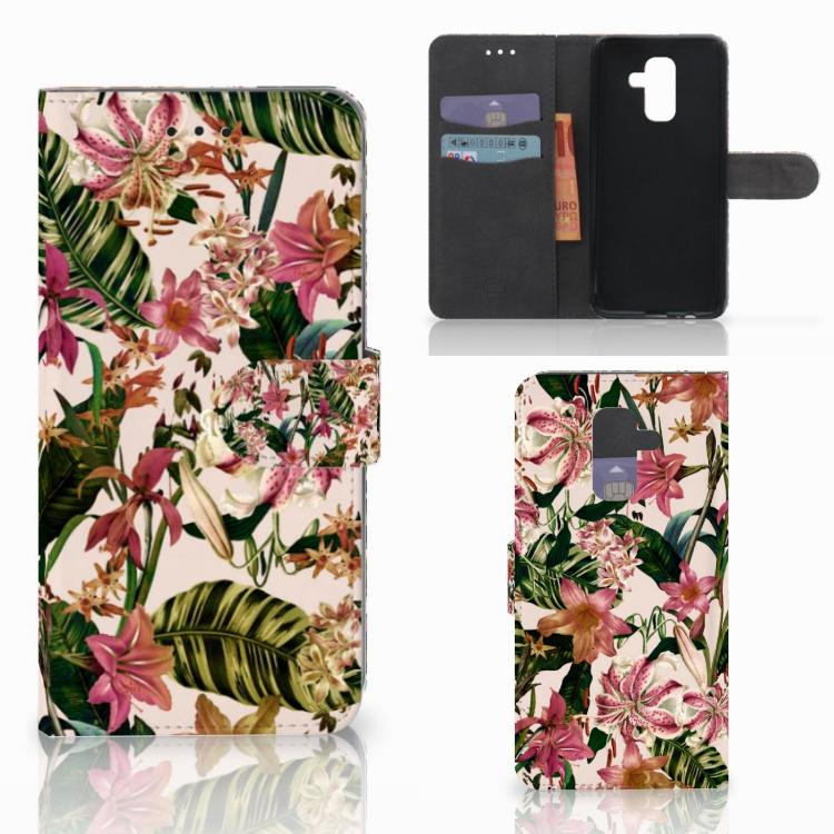 Samsung Galaxy A6 Plus 2018 Hoesje Flowers