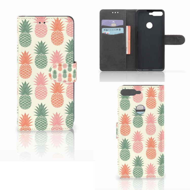 Huawei Y7 2018 Book Cover Ananas