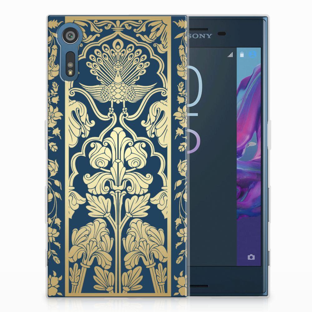 Sony Xperia XZs | XZ TPU Hoesje Golden Flowers
