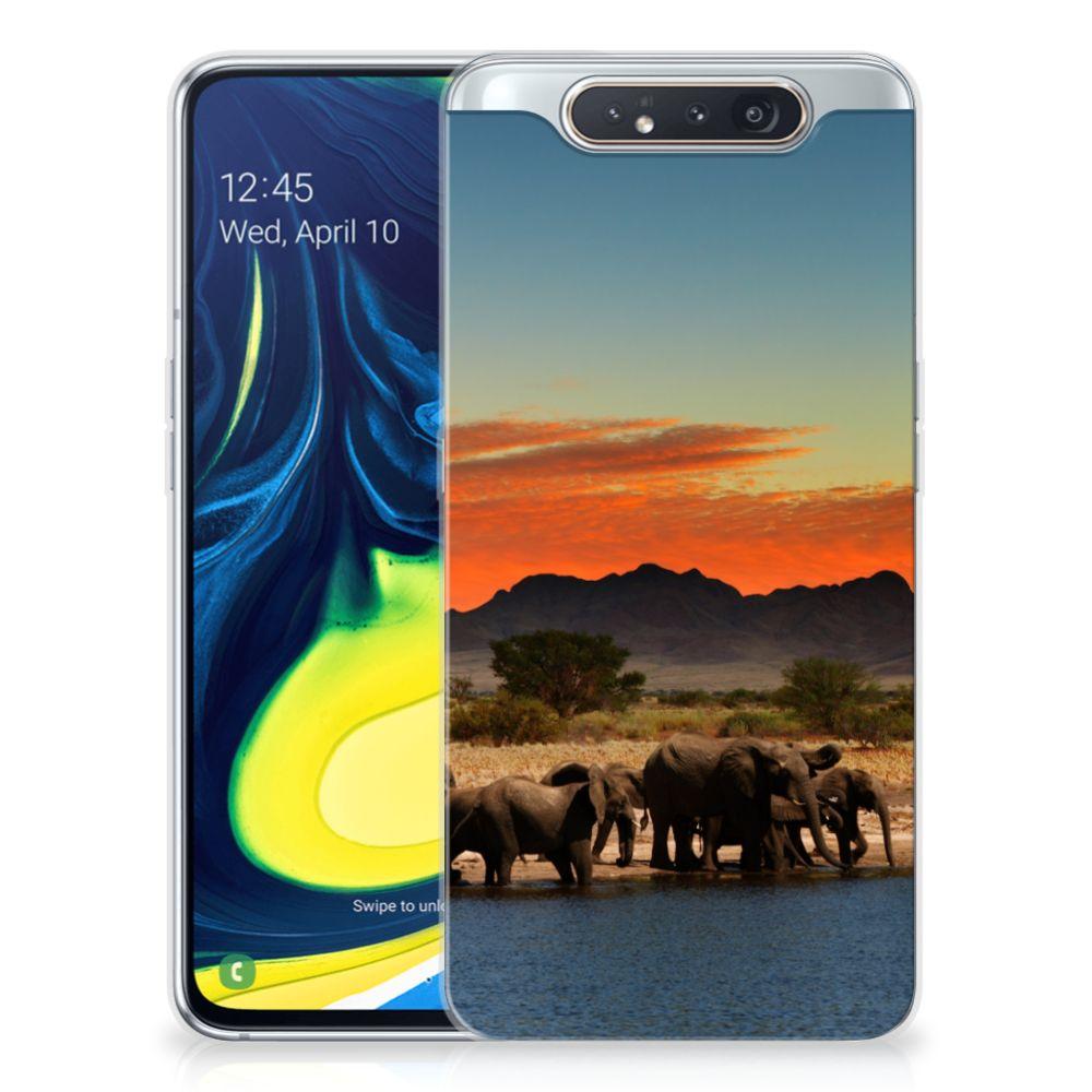 Samsung Galaxy A80 TPU Hoesje Olifanten