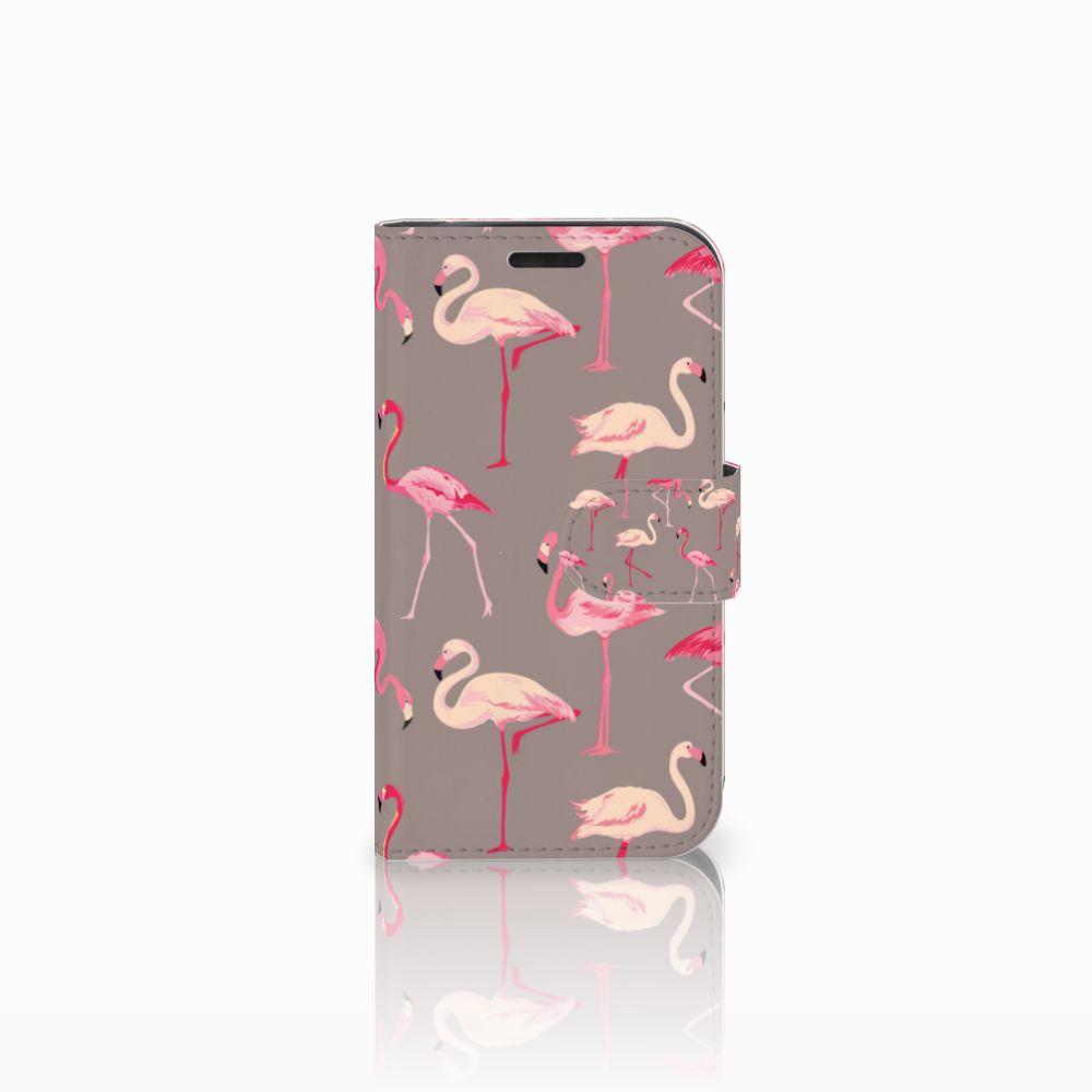 LG K4 Uniek Boekhoesje Flamingo