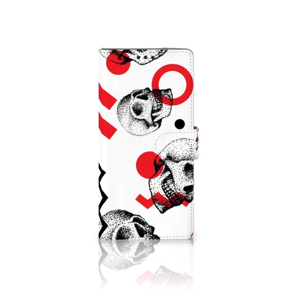 Sony Xperia XA Ultra Boekhoesje Design Skull Red