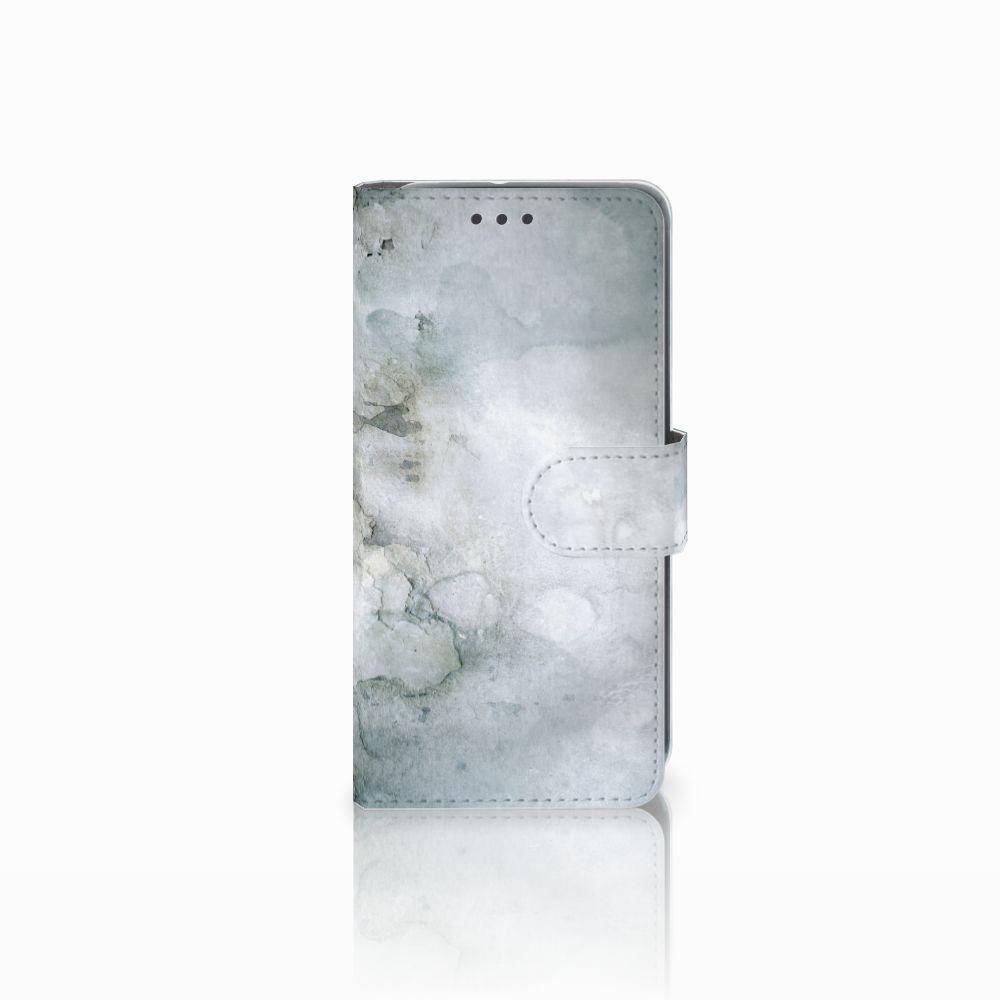 HTC U11 Life Uniek Boekhoesje Painting Grey
