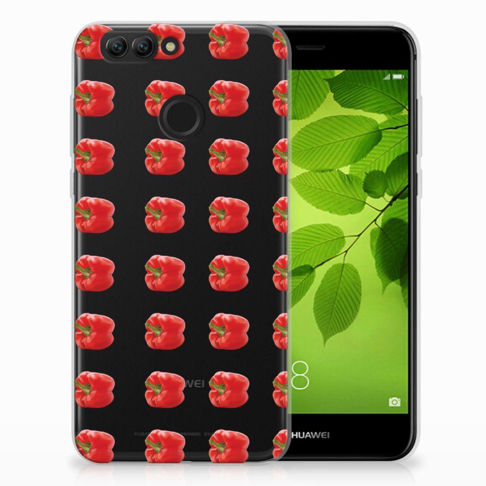 Huawei Nova 2 Siliconen Case Paprika Red