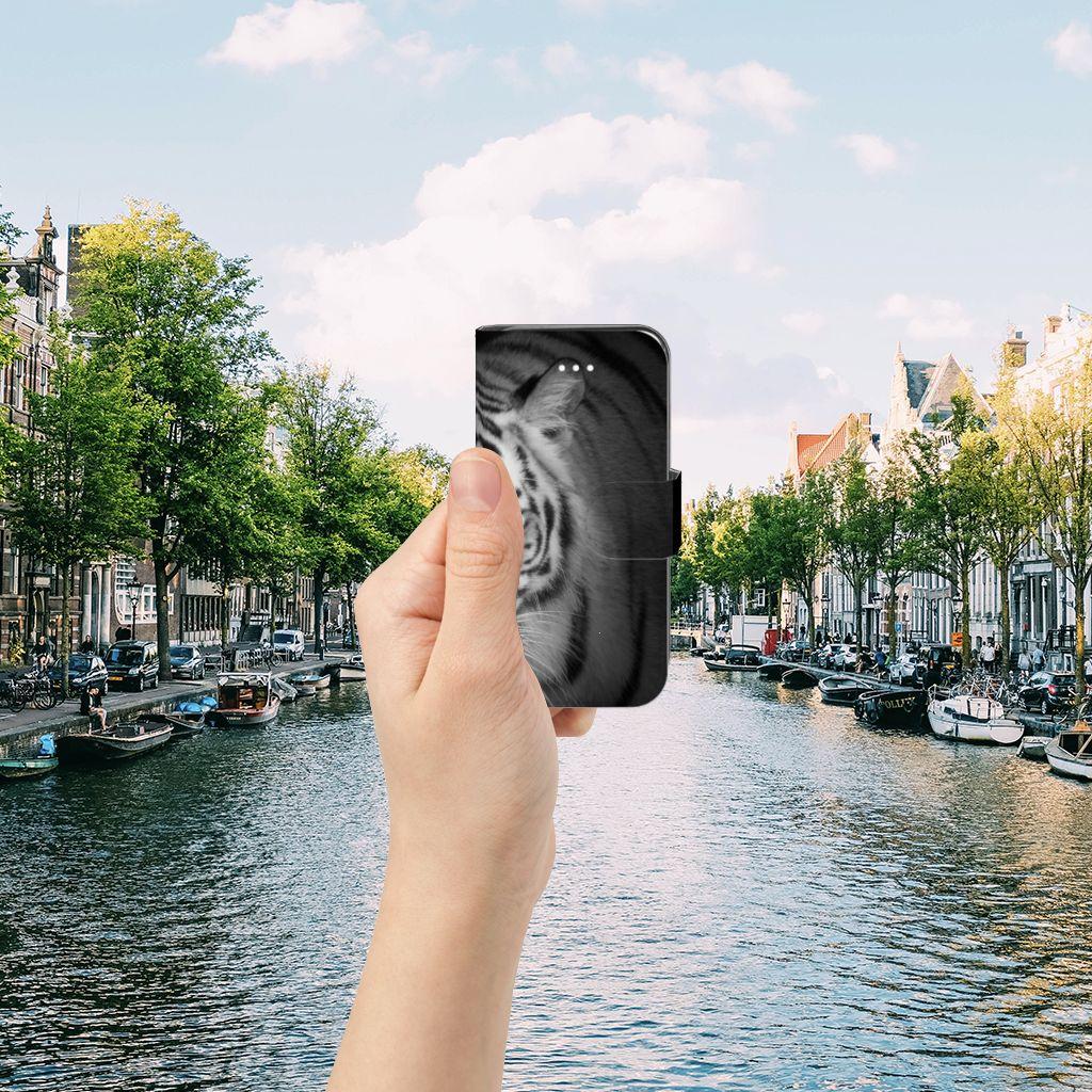Apple iPhone 5 | 5s | SE Telefoonhoesje met Pasjes Tijger
