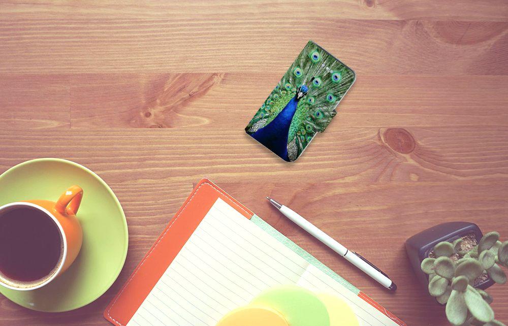 Apple iPhone 4 | 4S Telefoonhoesje met Pasjes Pauw