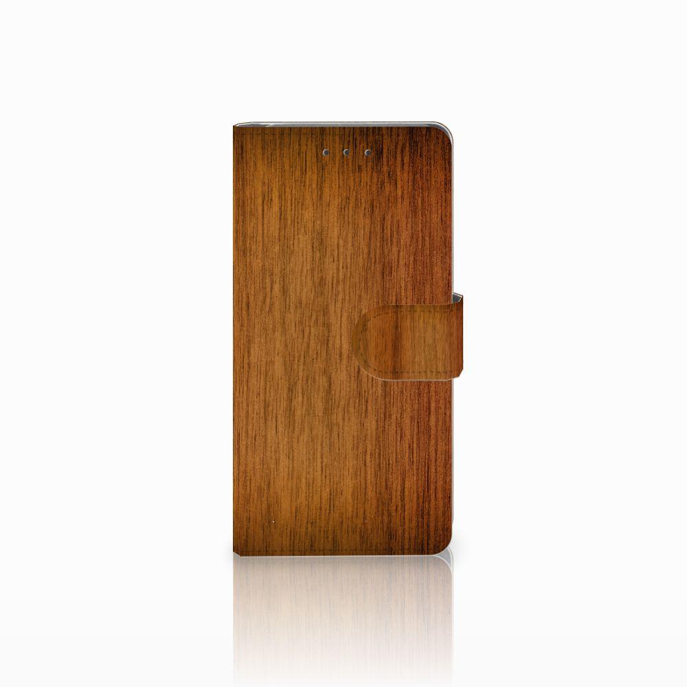 Samsung Galaxy Grand Prime | Grand Prime VE G531F Uniek Boekhoesje Donker Hout