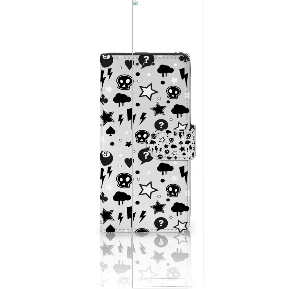 Huawei Ascend P8 Lite Uniek Boekhoesje Silver Punk