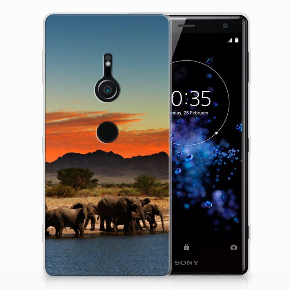 Sony Xperia XZ2 TPU Hoesje Olifanten