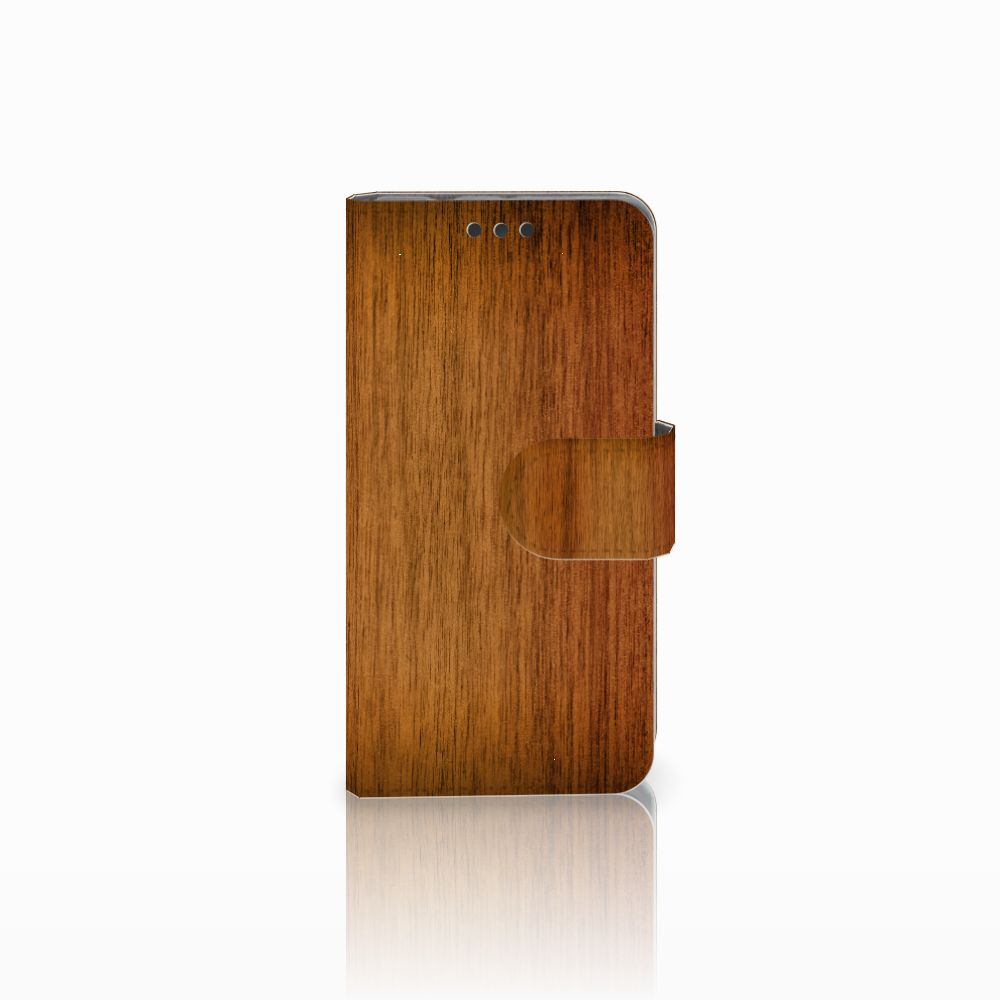 Sony Xperia Z3 Compact Uniek Boekhoesje Donker Hout