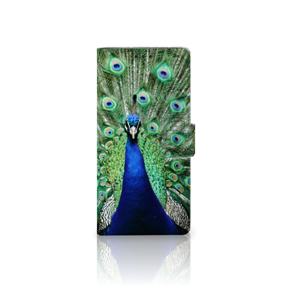 Sony Xperia XA Ultra Telefoonhoesje met Pasjes Pauw