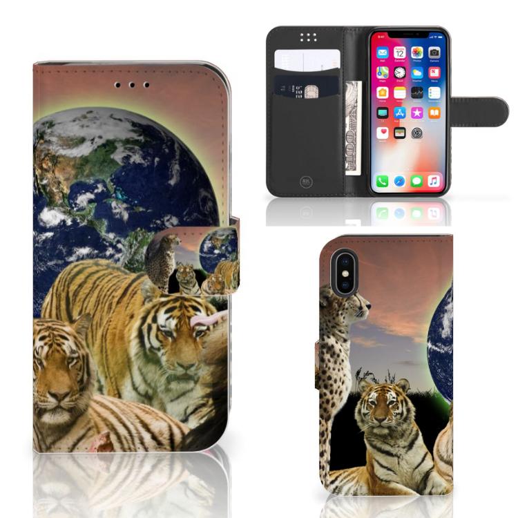 Apple iPhone X | Xs Telefoonhoesje met Pasjes Roofdieren