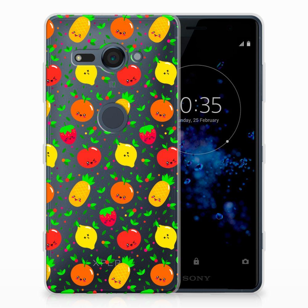 Sony Xperia XZ2 Compact Siliconen Case Fruits